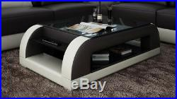 Cuir Table Basse Moderne Table Table Design Tables Verre Salon CT9012bb