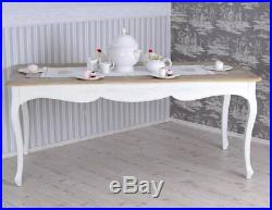 Table a manager salle a manager county style cuisine vintage blanc bois Table