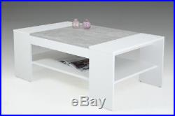 Table basse Arvada weiss-beton Table basse Table basse Table d'appoint salon